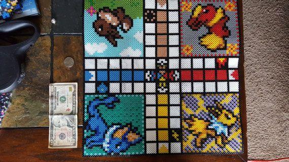 Pokemon Perler kralen  Eeveeloution Ludo bordspel door SonofaBeadch