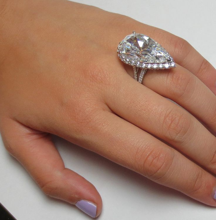 amazing huge 15 carats pear cut halo diamond engagement. Black Bedroom Furniture Sets. Home Design Ideas
