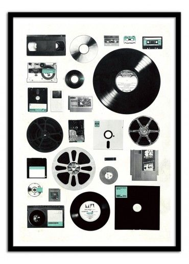 Art-Poster Wall Editions : Data Vintage, by Florent bodart. Format : 50 x 70 cm. #music #vynile #disc #poster #print #art #walleditions
