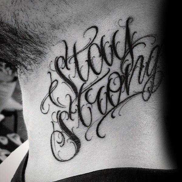 60 Fuerza Tatuajes Para Los Hombres Masculino Word Design Ideas Tatuajeclub Com Fuentes De Letras Para Tatuaje Tatuaje Del Cuello Tatuajes Chiquitos