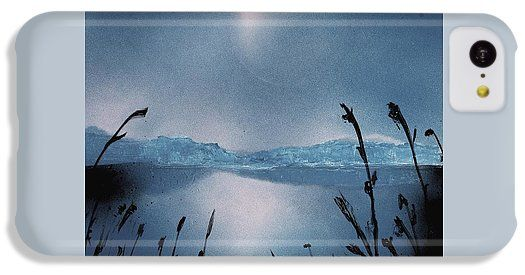 Moon Fog IPhone 5c Case Printed with Fine Art spray painting image Moon Fog by Nandor Molnar (When you visit the Shop, change the orientation, background color and image size as you wish)