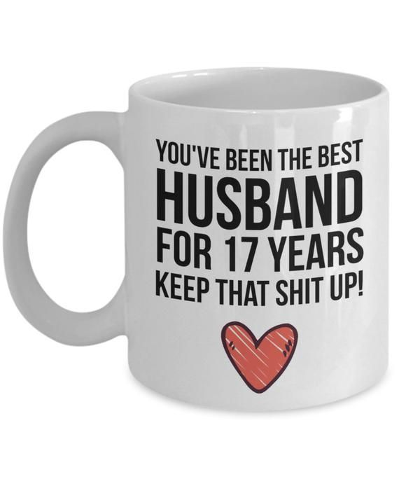 17 Year Wedding Anniversary Traditional Gift: 17 Years Anniversary, Anniversary Mug, Anniversary Gift