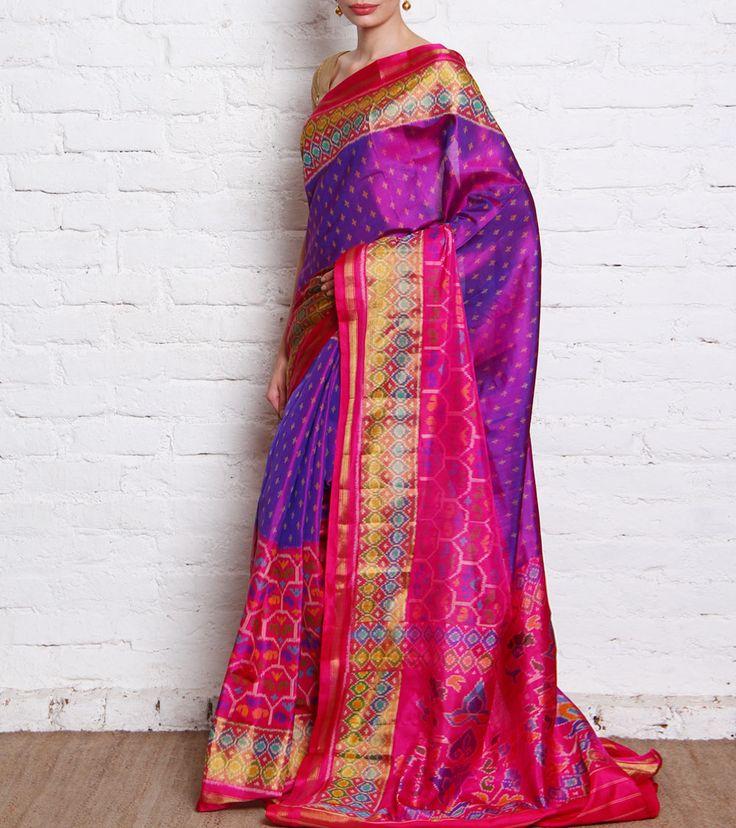 Pink & Purple Rajkot Patola Silk Saree