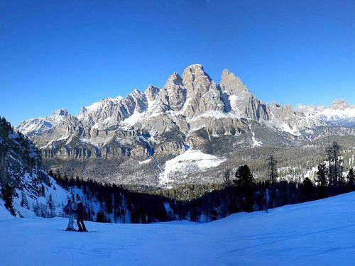 Cortina d'Ampezzo is the top ski destination of Italy.