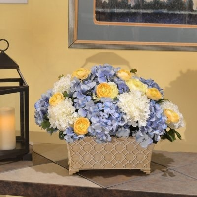 Just to give you an idea on a bit of yellow in the arrangements