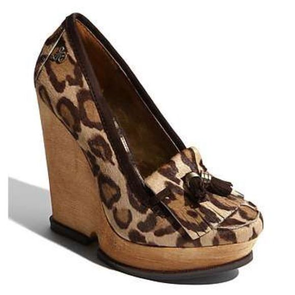 Sam Edelman Welsley Oxford Wedges Sam Edelman Welsey Oxford Wedges. Real Calf fur exterior. Wooden platform wedge. Sam Edelman Shoes Platforms