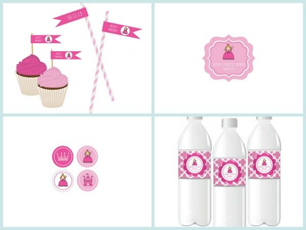 Princess Party Personalized Labels