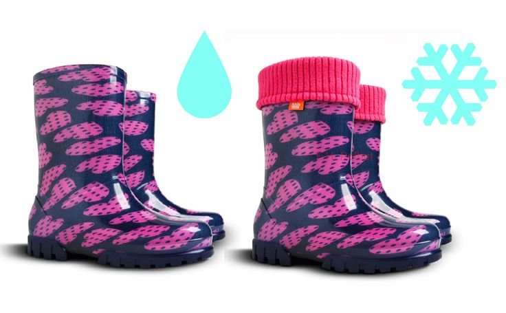 Wellies for rainy and snowy weather ! - special printed patterns for kids. DEMAR