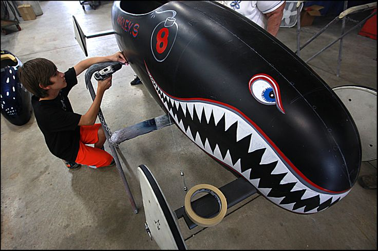 Harley Street Of Rushville Works On His Soap Box Derby Car