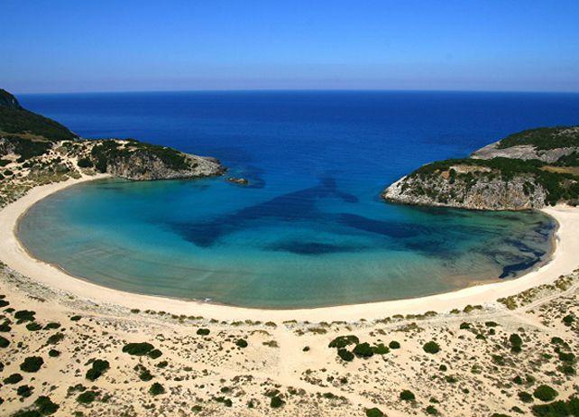 Voidokilia Beach, Costa Navarino, Messinia, Peloponnese, Greece