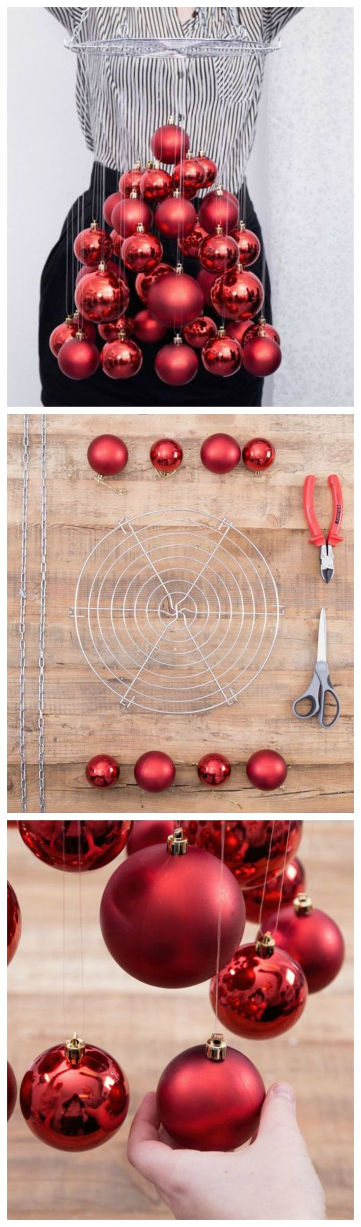 Christmas DIY: how to make a hanging christmas