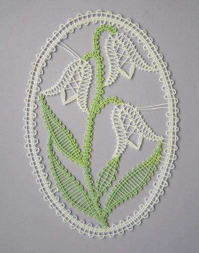 Embroidery Project 7 gallery - FSL bobbin lace type flower picture