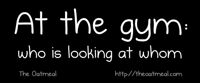 At the gym | Who is looking at whom