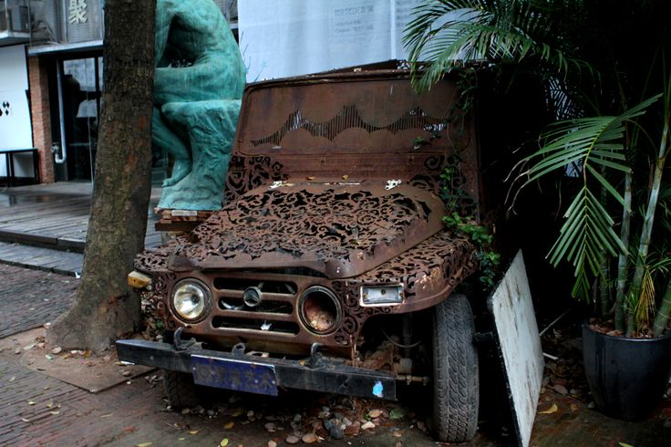 Floral car at OCT Loft, a fancy and chic area in #Shenzhen, Guangdong province, China http://frankfox.eu/china/
