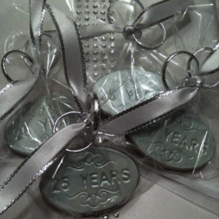 25th Anniversary Party Favors Silver Anniversary Ideas