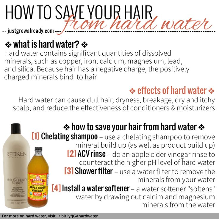 How to save your hair from hard water | Just Grow Already!