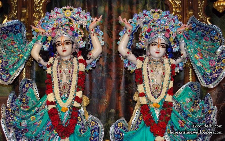 To view Gaura Nitai Close Up Wallpaper of ISKCON Dellhi in difference sizes visit - http://harekrishnawallpapers.com/sri-sri-gaura-nitai-close-up-iskcon-delhi-wallpaper-004/