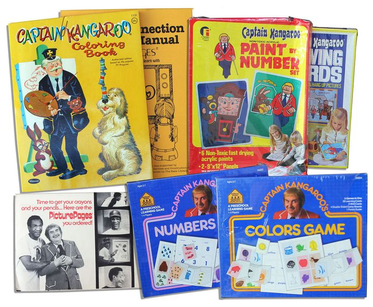 From Estate Captain Kangaroo Lot of 1976- Games & Toys