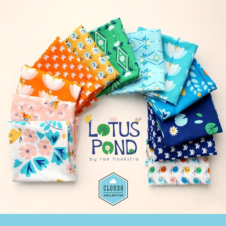 Cloud9 Fabrics • Lotus Pond • Look Book  Project inspiration using Lotus Pond by Rae Hoekstra