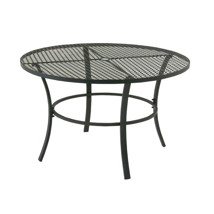 Studio 350 Metal Round Outdoor Table (Striking Metal Round Outdoor Table),  Black,