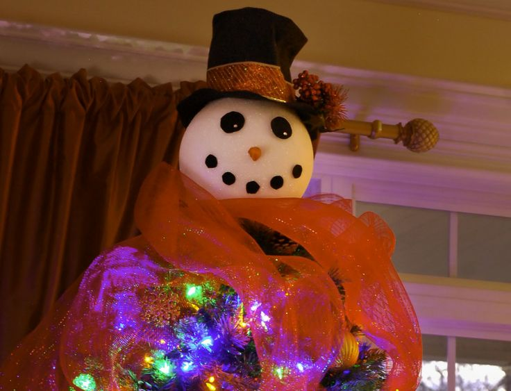 90 Best Snowman Christmas Tree Topper Images On Pinterest