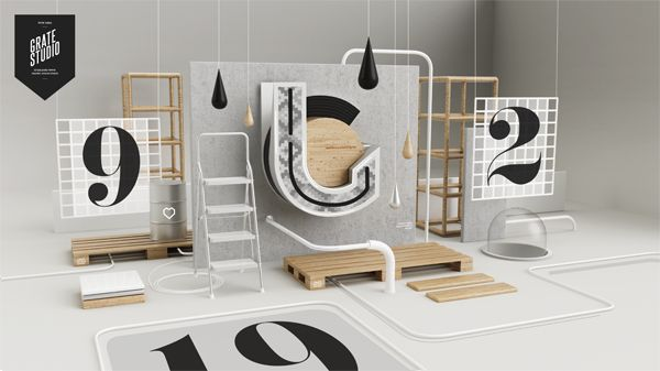 July. by Peter Tarka, via Behance - 3D Typography Design Modelling