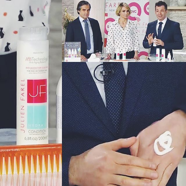 We're live from @qvc_italy today! Watch us on #QVCLive | #JulienFarel #Italia #JFProducts #QVC #Live #TVshow #Watchus #bestproducts #Hydrate #Restore #CalmElixir #Shampoo #Conditioner #A2BTechnology #hyaluronicacid #antiaging #hairtreatment #beautifulhair #hairgoals #thescienceofhair #beauty