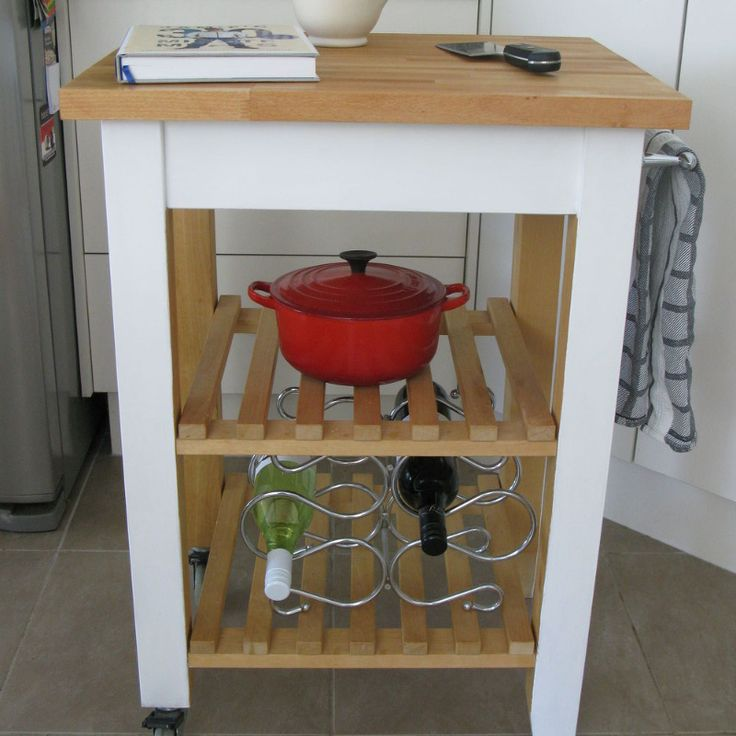 Another Ikea Kitchen Trolley / Butchers Block Kitchen Island Makeover Butcher blocks, The o ...