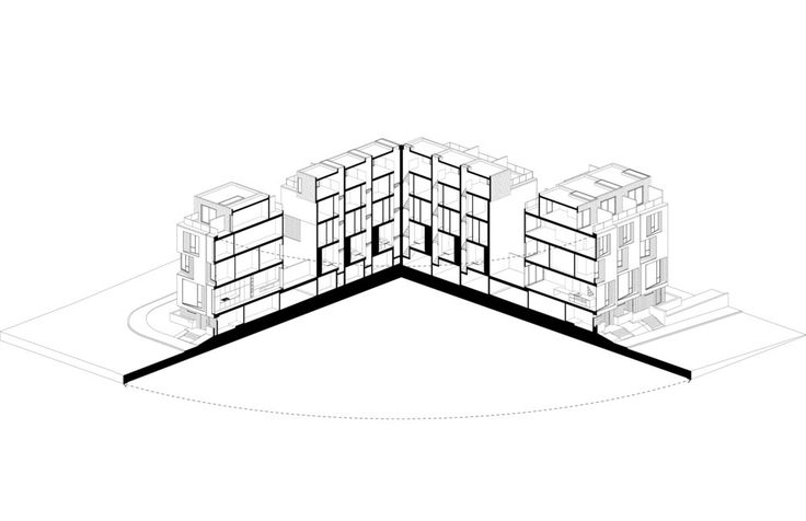 CORE Modern Homes,Axonometric Section