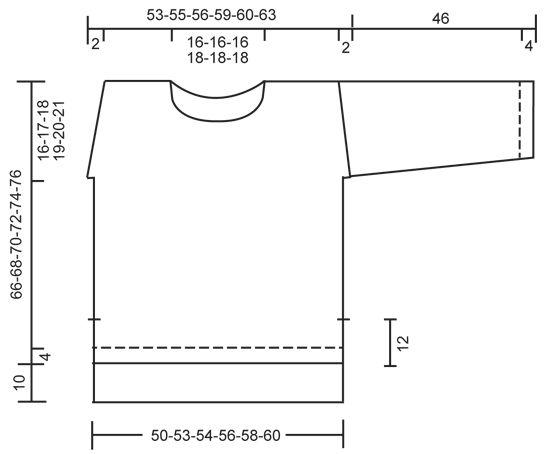 """Sigrid - Strikket DROPS bluse i """"Air"""" med falsk raglan, slids og struktur på skuldrene og ærmerne. Str S - XXXL. - Free pattern by DROPS Design"""