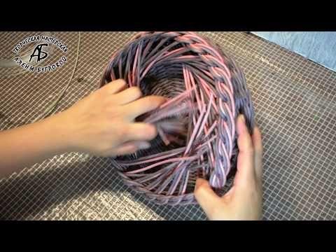 Красивая загибка. Плетение из бумажных трубочек   oblacco