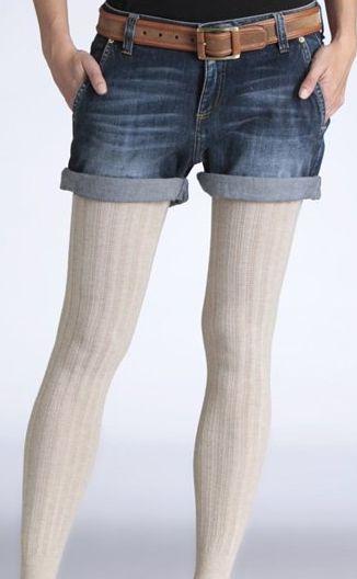 La Redoute - witte legging in ajour tricot Softgrey