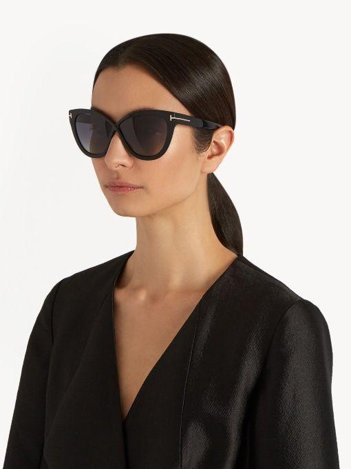 dbbd0c43c3b30 Tom Ford Eyewear Arabella Cat-eye Sunglasses Black Womens