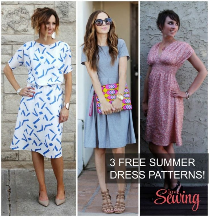 3 Gorgeous (and free) summer dress patterns and tutorials