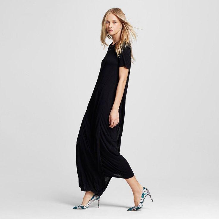 Women's T-Shirt Maxi Dress - Who What Wear - Black Xxl