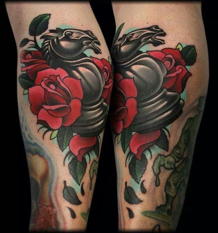 horse chess piece with roses tats pinterest chess pieces tattoo and chess tattoo. Black Bedroom Furniture Sets. Home Design Ideas