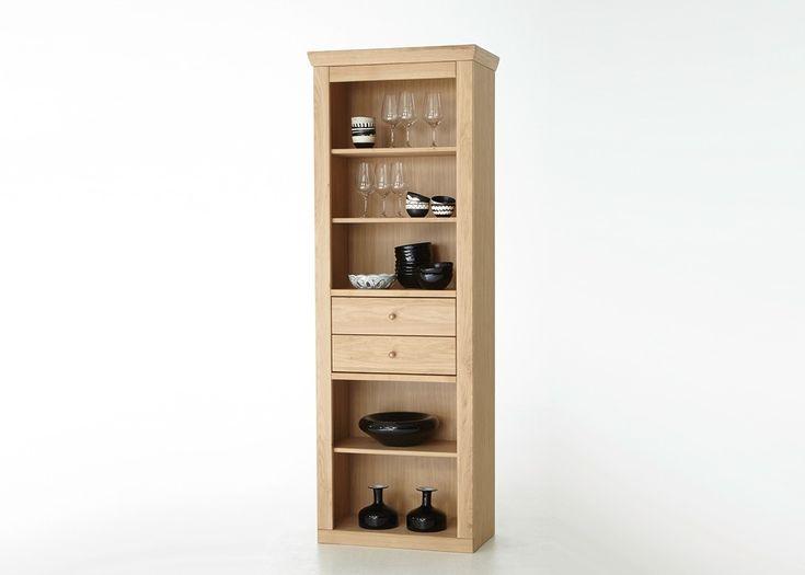 Regal Verona Wandregal Bücherregal Holz Eiche Bianco teilmassiv 20719. Buy now at https://www.moebel-wohnbar.de/regal-verona-eiche-bianco-teilmassiv-20719