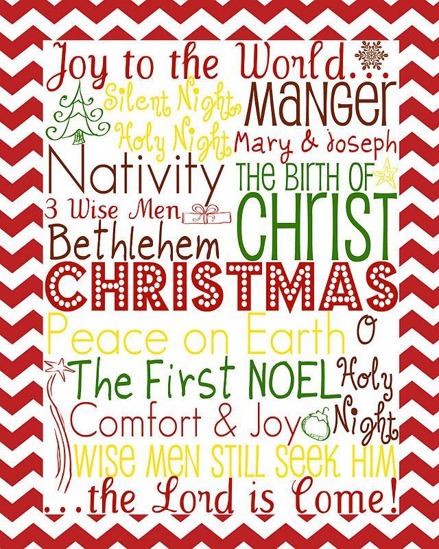 Day 3 of 12 Days of Christmas Fun: CHRISTmas Subway Art Printable   Food, Folks, and Fun
