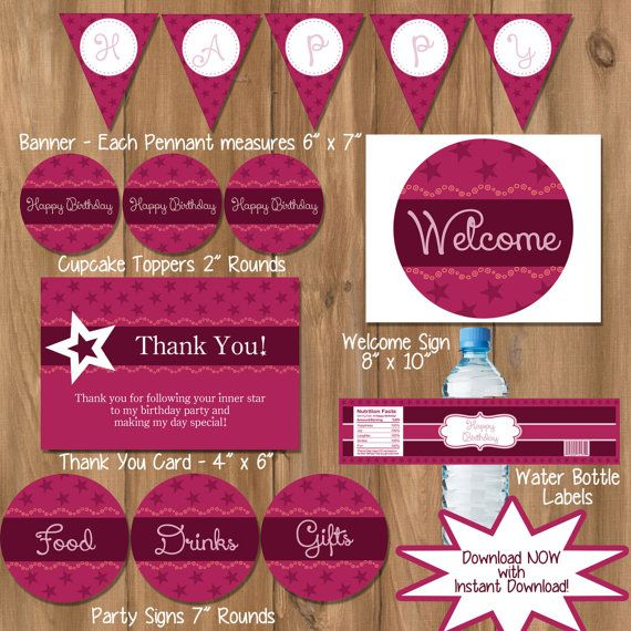 Instant Download  American Girl Birthday  American by DigiPrintz