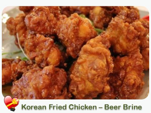 Try this moist and delicious beer brine Korean local style fried chicken. Enjoy! Print  Korean Fried Chicken – Beer Brine