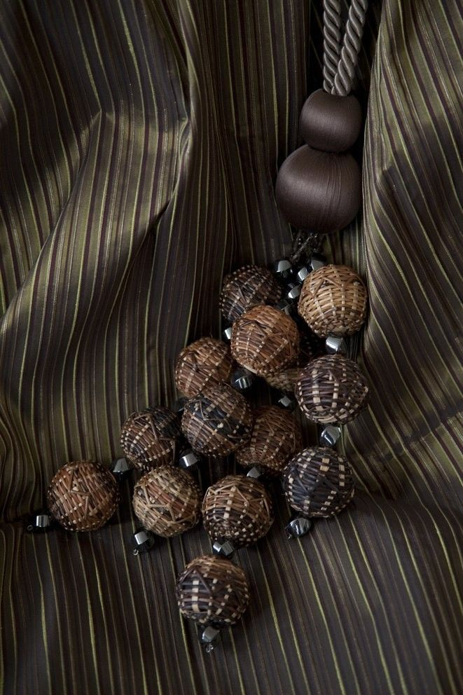 HAND WOVEN RATTAN TIEBACK - LATEST DESIGNS - DIP DYE AND TEMARI COLLECTIONS - CURTAIN TIEBACKS AND TIE-BANDS