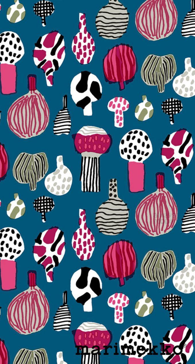 マリメッコ/ネイチャーパターン16 iPhone壁紙 Wallpaper Backgrounds iPhone6/6S and Plus Marimekko Nature Pattern iPhone Wallpaper