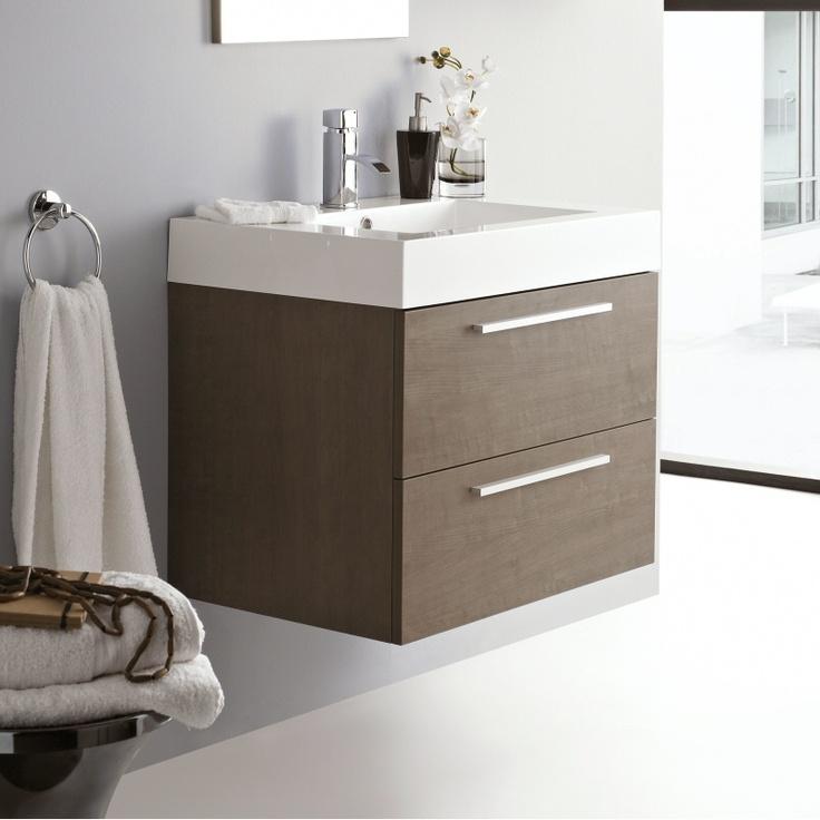 Relax Oak Bathroom Wall Mounted Vanity Unit 욕실 인테리어