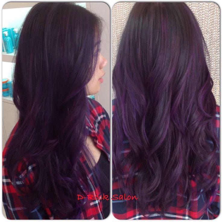 Purple balayage ombré  Great hair and services live at D-Rock salon, Fairfax VA | 703-293-9400 Drocksalon.com