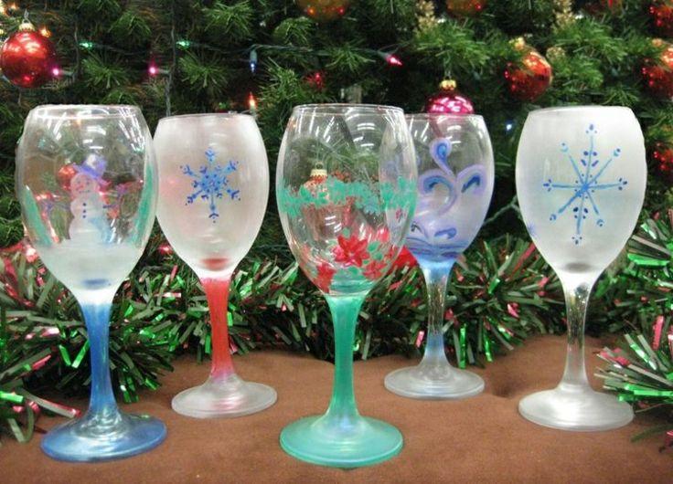 17 meilleures id es propos de verres vin d cor s sur for Maison decore pour noel