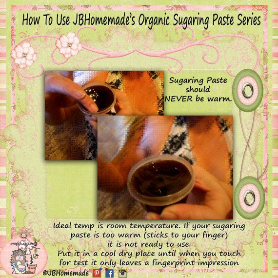 Sugaring Paste Natural Hair Removal for by JBOrganicHairRemoval