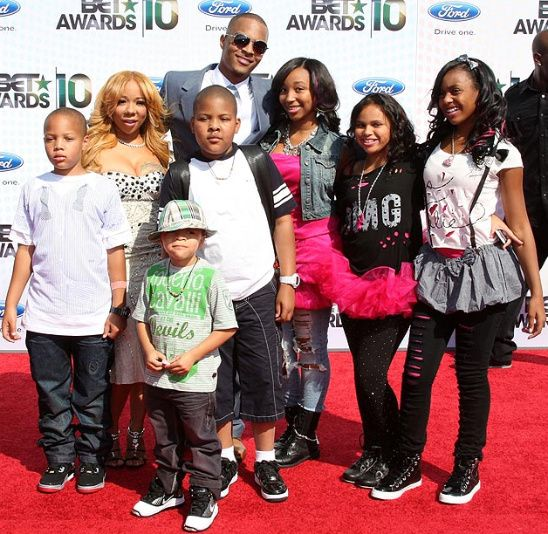 "Tiny and Ti Daughter OMG Girlz | Rapper T.I. and his fiancée Tameka ""Tiny"" Cottle and their kids ..."