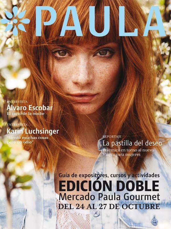Foto por Nacho Rojas para Revista Paula. Model : Ana Paula Rondan  Ginger redhead freckles