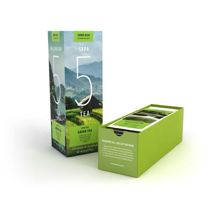 Vietnam Delight 5 green teas - with 15 tea pouches inside!! #tea #Vietnam #gift #greentea