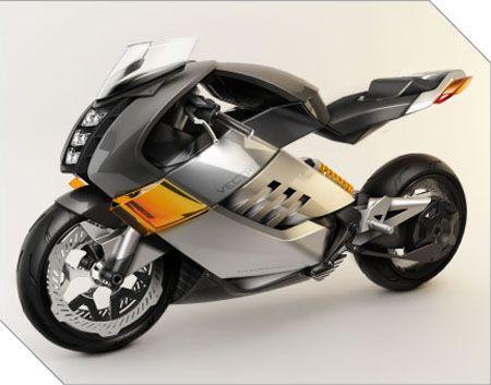 Futuristic Vectrix Electric Super Bike